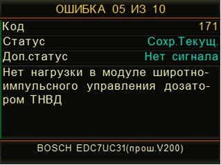 Код ошибок
